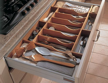 Lineadecor  Beech cutlery tray  without base