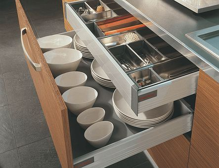 Lineadecor  Base unit with Tandembox 2 deep drawers and 1 inner drawer