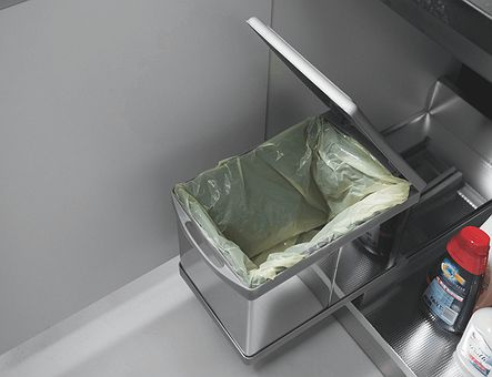 Lineadecor  Waste bin with pull-out, manual opening