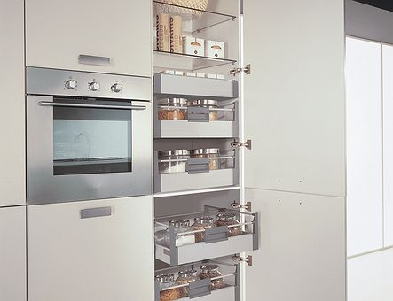 Lineadecor  Tall unit with Tandembox inner drawers