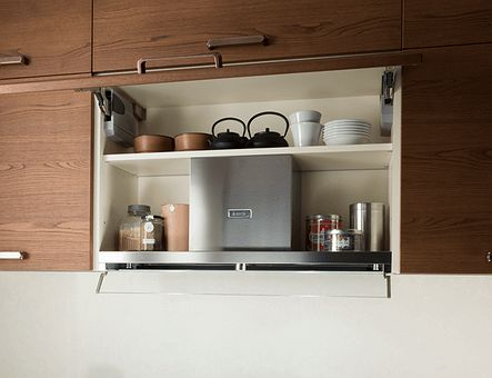 Lineadecor  Wall unit with flap door for extractor