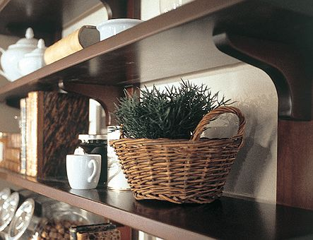Lineadecor  Wall unit with wooden shelves
