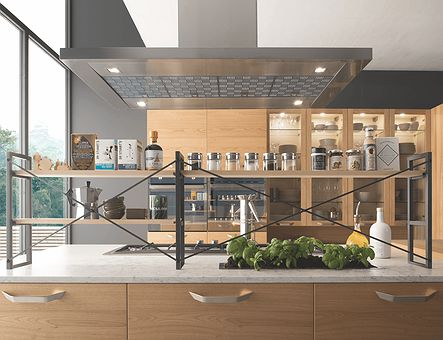 Lineadecor  Over counter shelving set for island